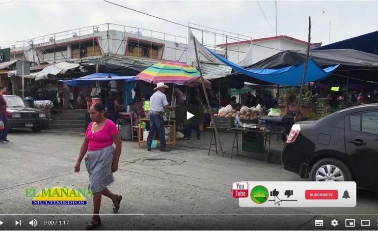 Comerciantes vuelven de manera normal al área de los mercados, Cd. Valles.