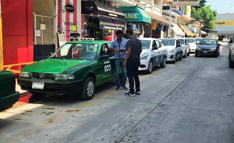 Multas a taxis sin póliza de seguro