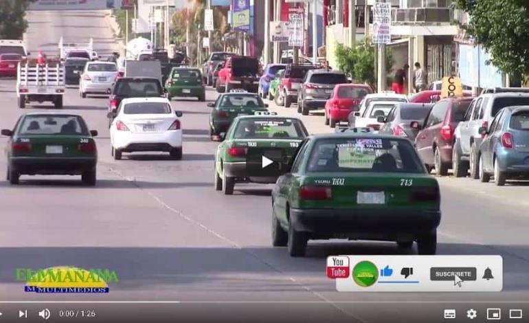 Retoman sanitización de taxis en Cd Valles