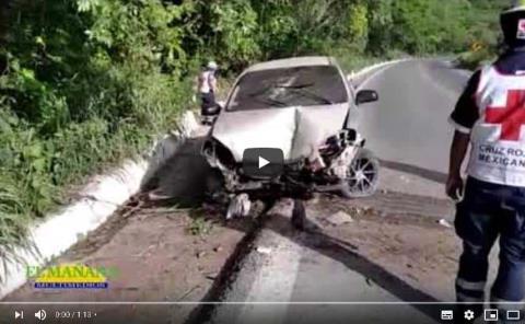 Aparatoso accidente; Carretera Cd. Valles -Tamuín