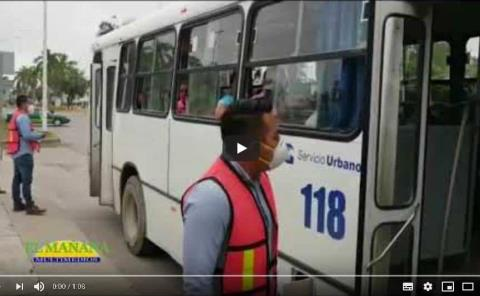 Supervisan transporte urbano cumpla medidas sanitarias