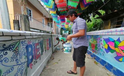 """Plasman murales por """"Día de Muertos"""""""