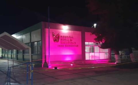 Hospital IMSS N-44 se ilumina de rosa