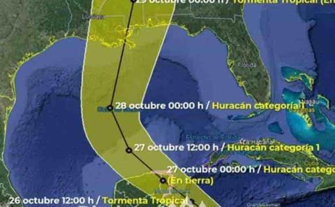 "Se forma tormenta  tropical ""Zeta"""