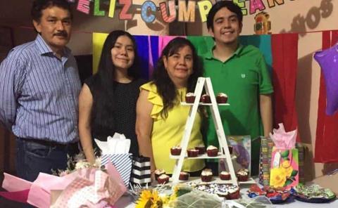 Sofía Montantes celebró en familia