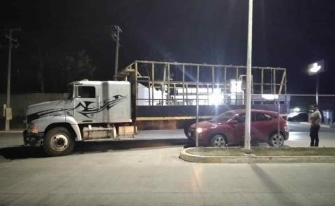 Cañero impactó a un automóvil