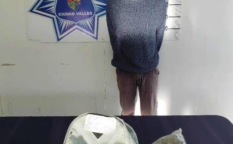 Detenido por portación de droga