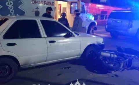 Automóvil impactó a motociclistas
