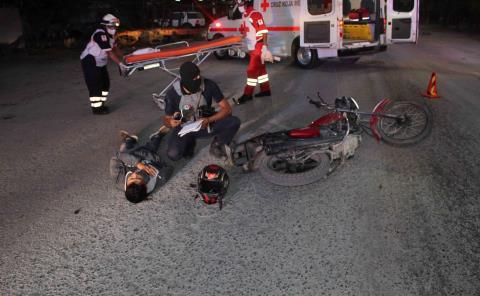Motociclista fracturado