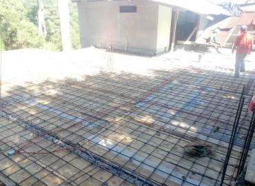 Rehabilitan techado de casa sacerdotal
