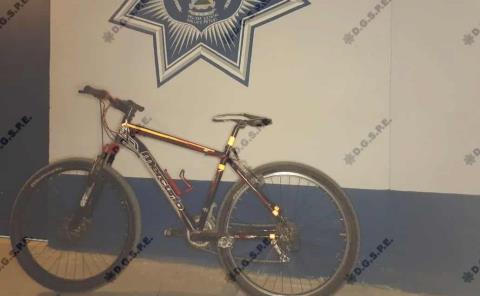 Atrapado con droga y bicicleta robada
