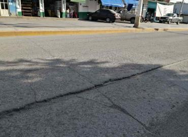 Colapsa la calle Vicente Guerrero