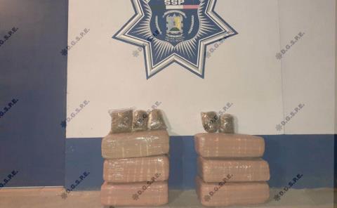 Detenidos con 63 kilogramos de marihuana