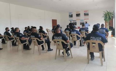 Curso de Sensibilización dieron a Policía Municipal