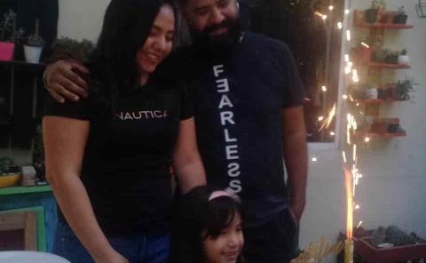 Natalia Reséndiz festejó en familia