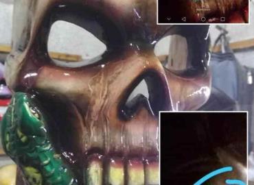 Sorprende aparición de imagen en una máscara