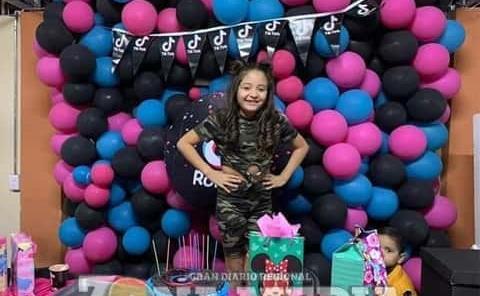 """fiesta de """"Tik Tok"""" tuvo Romina Piña"""
