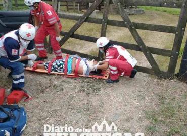 Encontronazo dejó una mujer lesionada