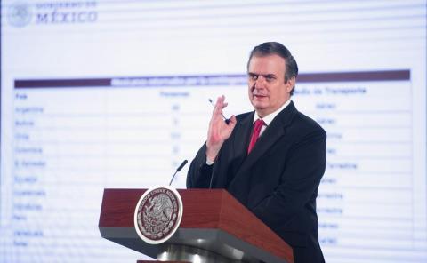 """""""México sabrá aplicar la ley """", asegura Ebrard"""