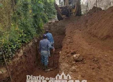 Aplican obra de dren pluvial