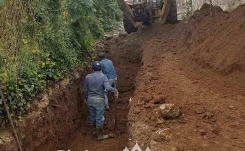 Dan continuidad a la  obra de drenaje pluvial