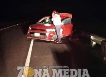 Familia accidentada en la supercarretera