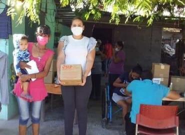 SMDIF distribuyó apoyo alimentario