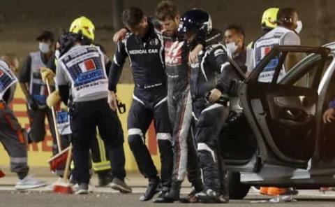 Grosjean rozó la tragedia en Bahrein