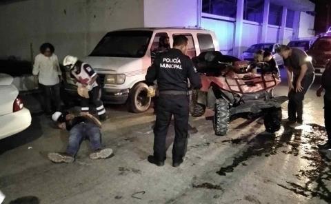 Conductor herido en fuerte accidente