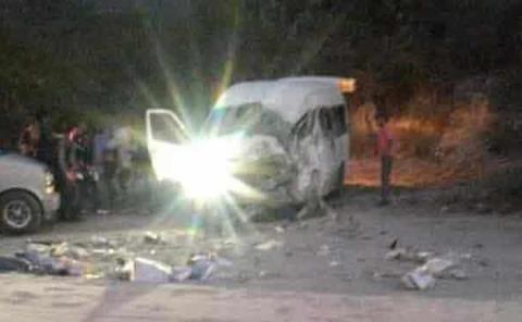 Trágico accidente  automovilístico