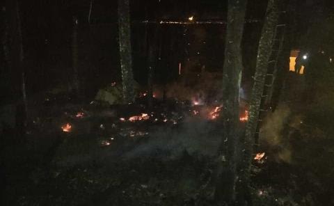 Incendios de casas en San Pedro las Anonas