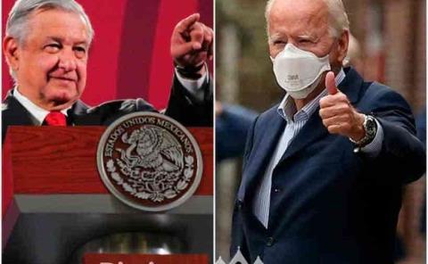 AMLO felicita a Joe Biden